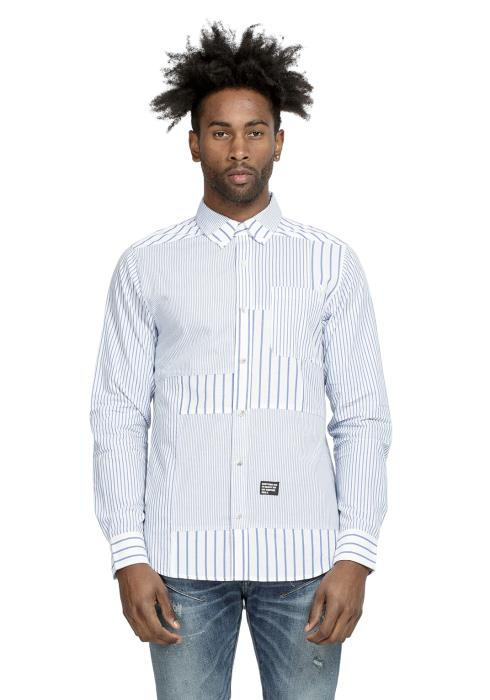 Konus Patched Long Sleeve Button Down Shirt