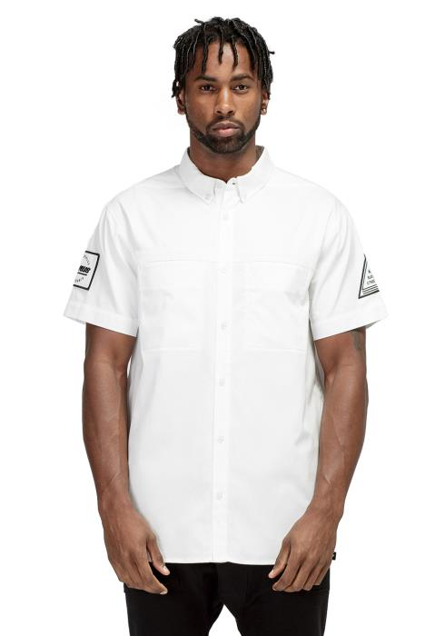 Konus Short Sleeve Button Down Shirt with Reflective Tape on Chest