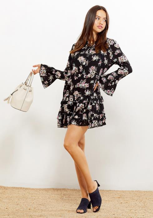 Ro&De Ruffle Hem Floral Women Clothing Dress