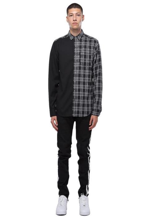 Konus Mens Long Sleeve Mix Flannel Shirt