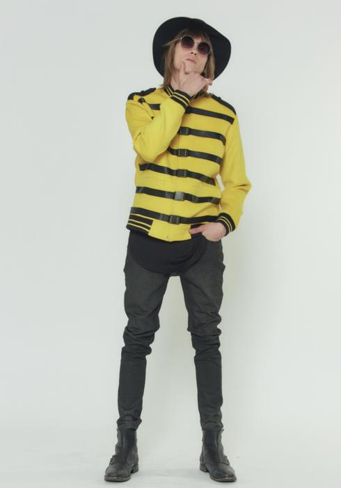 Konus Wool Blend Tour Strap Buckle Bomber Jacket