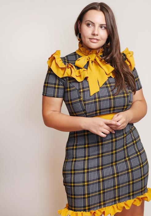 Asoph Plus Size Teach Me Mini Dress