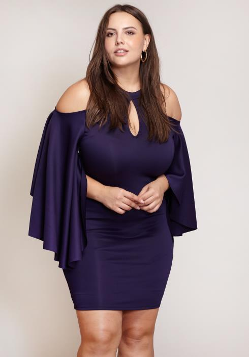 Asoph Haltered Keyhole Plus Size Women Clothing Dress