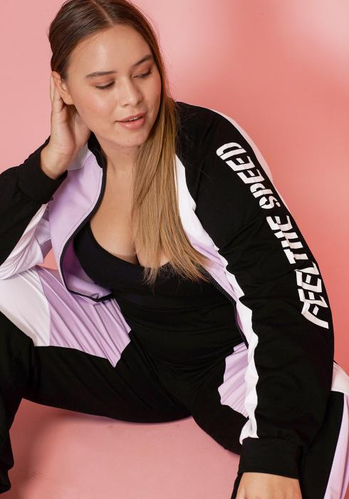 Asoph Women Clothing Plus Size Speed Zip Up Jacket