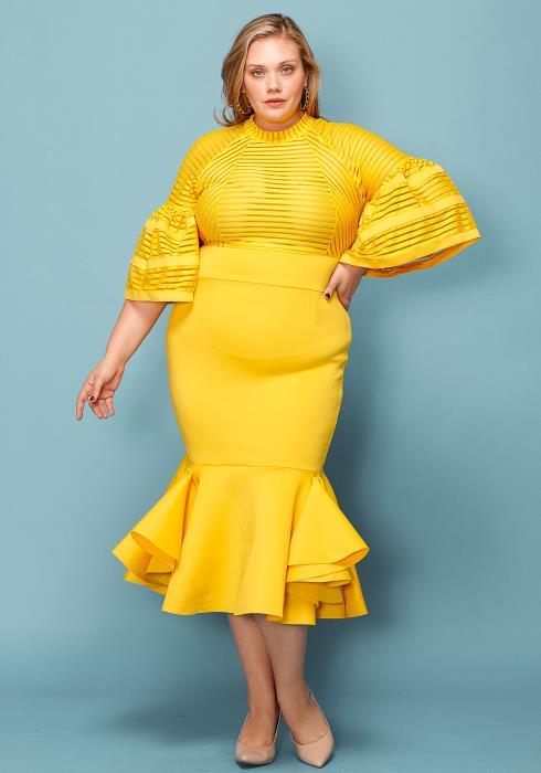 Asoph Plus Size Flare Hem Dress