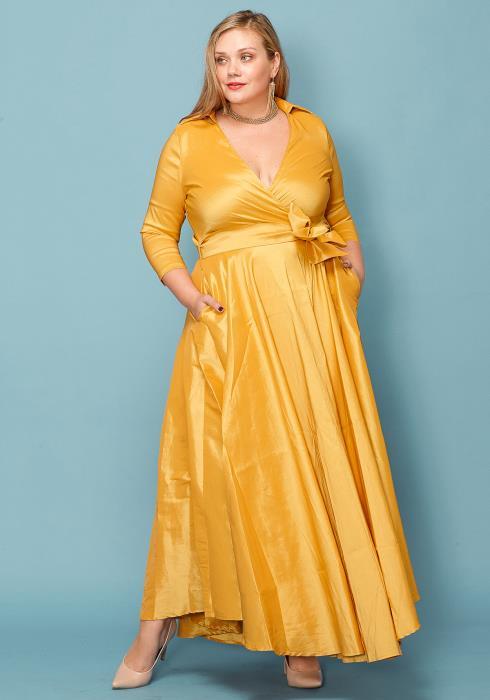Asoph Plus Size Bow Down Maxi Dress