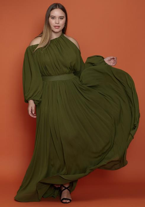 Asoph Plus Size Maxi Chiffon Women Clothing Dress