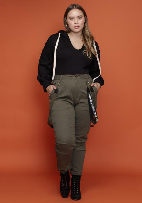 Asoph Plus Size Good Vibes Suspense Pants Women Clothing