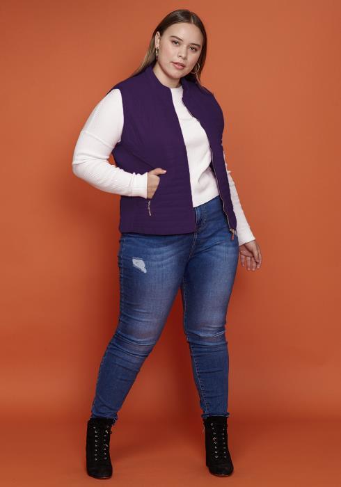 Asoph Plus Size Comfy Zip Up Vest