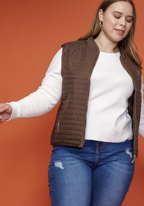 Asoph Plus Size Women Clothing Zip Up Vest