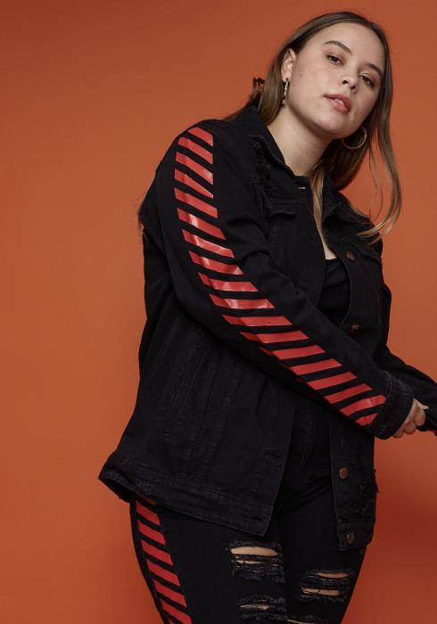 Asoph Plus Size Ripped Denim Women Clothing Jacket