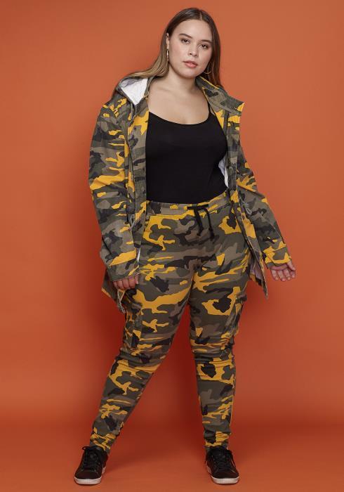 Asoph Women Clothing Plus Size Drawstring Camo Pants
