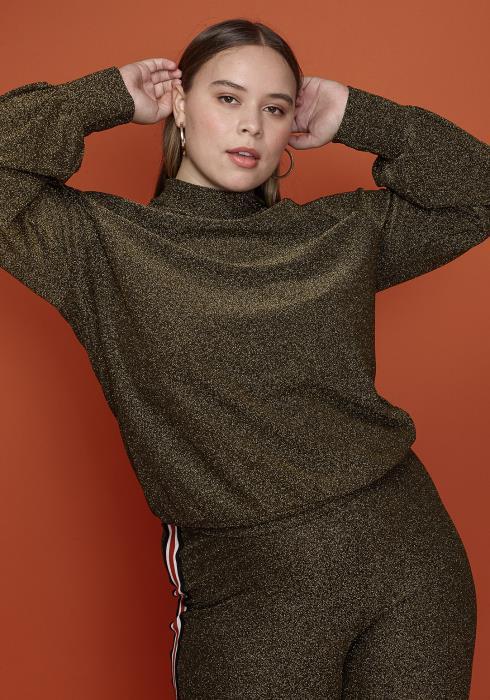 Asoph Plus Size Women Clothing Mock Neck Top