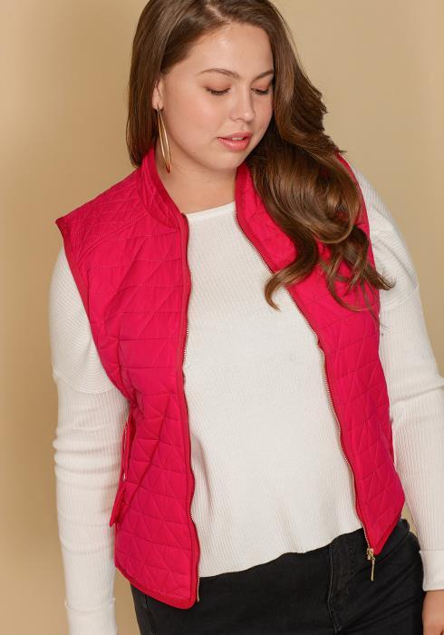 Asoph Women Clothing Plus Size Zip Up Vest