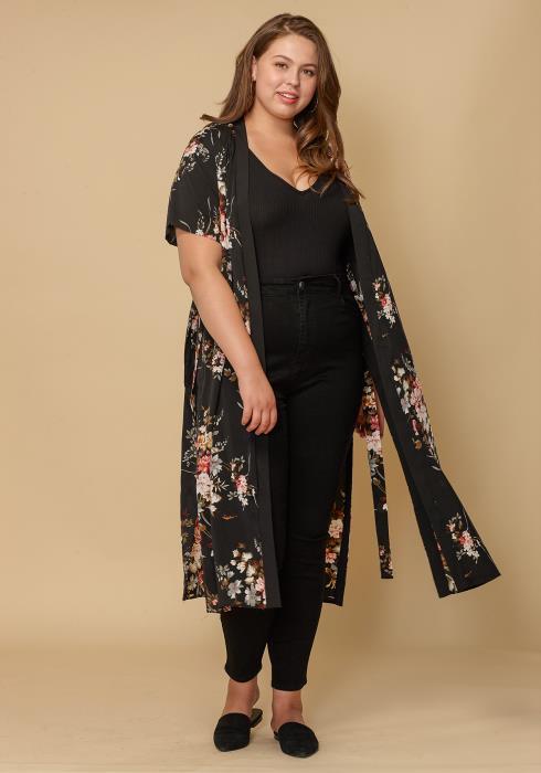 Asoph Floral Long Plus Size Women