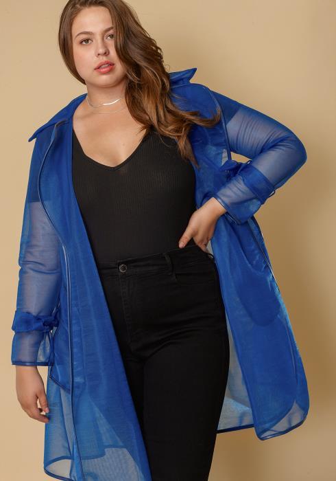 Asoph Mesh Plus Size Women Jacket