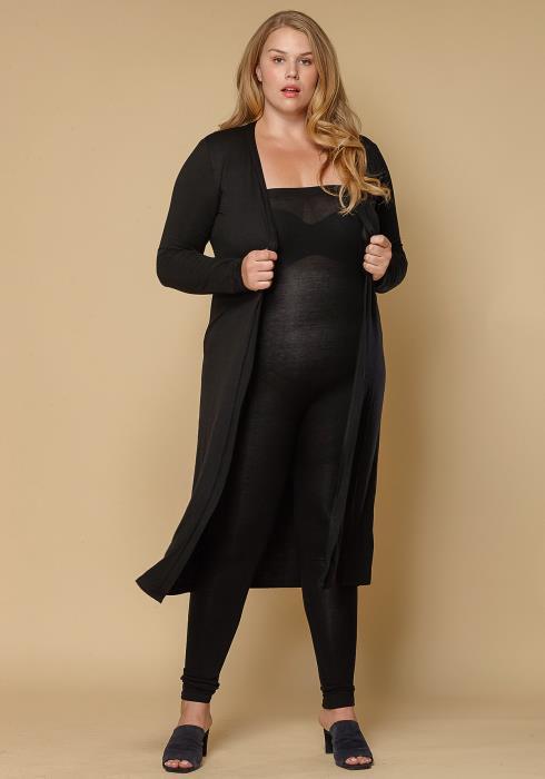Asoph Plus Size Basic Cardigan Tube Top Jumpsuit Set Women Clothing