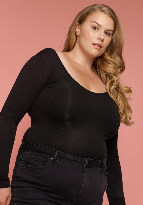 Asoph Plus Size Scoop Neck Women Bodysuit