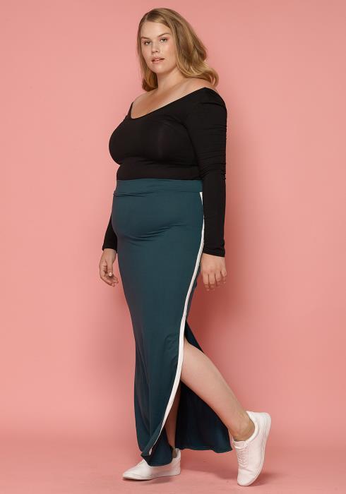 Asoph Plus Size Slit Maxi Pencil Skirt