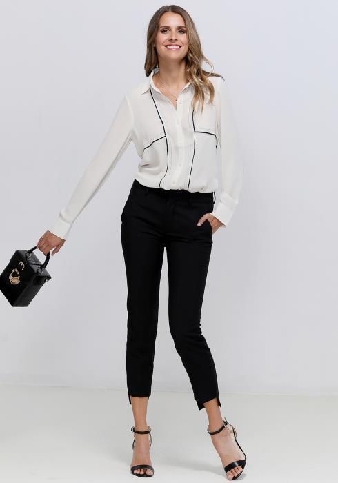 Ro&De Noir Button Up Shirt Blouse Women Clothing