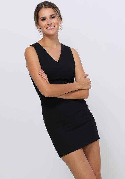 Ro&De Noir V-Neck Sleeveless Bodycon Dress Women Clothing