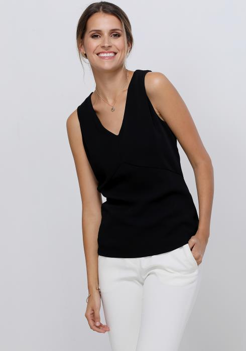 Ro&De Noir Sleeveless Fitted Women Top