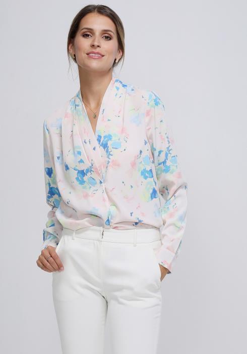 Ro&De Noir Water Paint Blouse Women Clothing