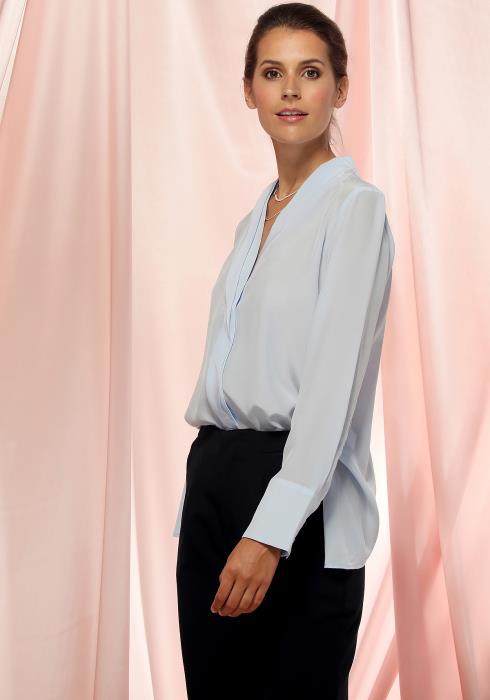 Ro&De Noir Split Back Sheer Blouse Women Clothing