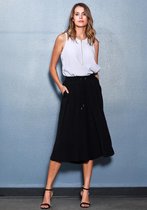 Ro&De Noir Sleeveless Side Tie Blouse Women Clothing