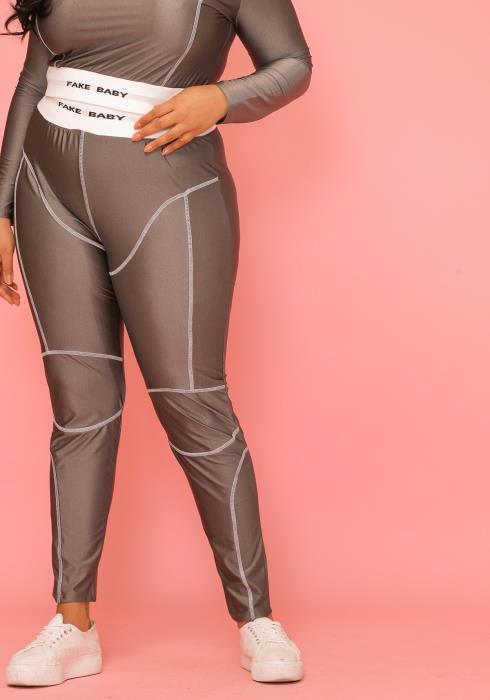 Asoph Plus Size Fake Baby Crop Top & Leggings Set
