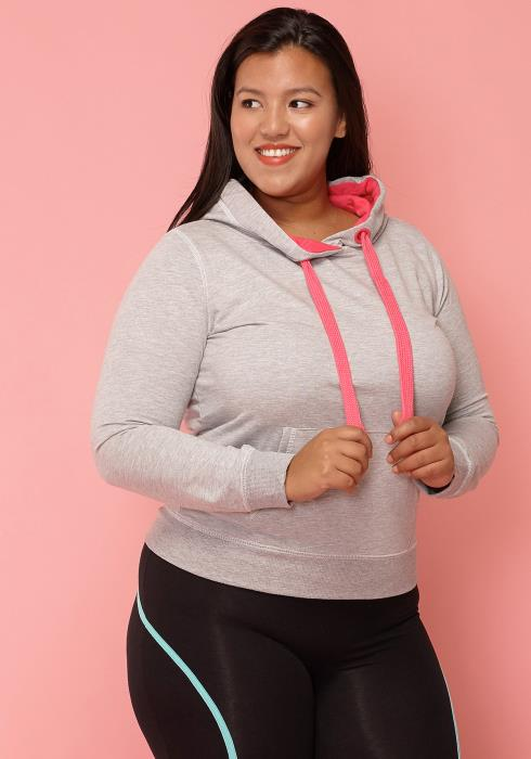 Asoph Plus Size Neon Strapped Hoodie