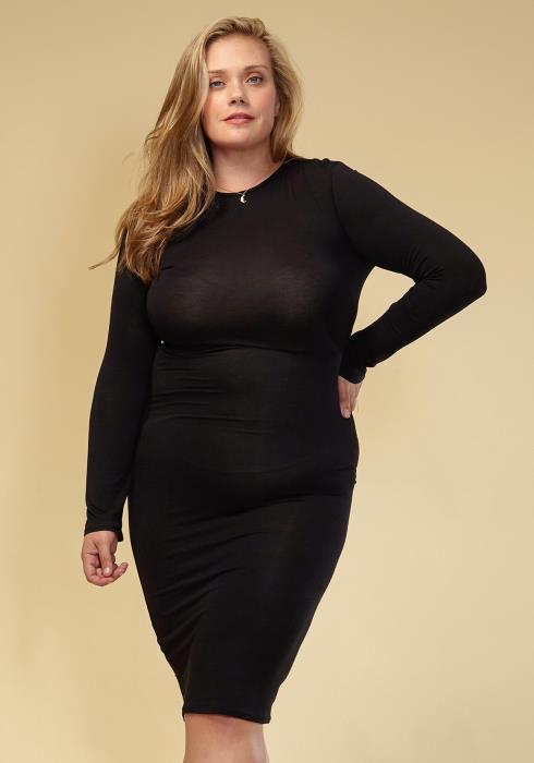 Asoph Plus Size Basic Bodycon Dress Women Clothing