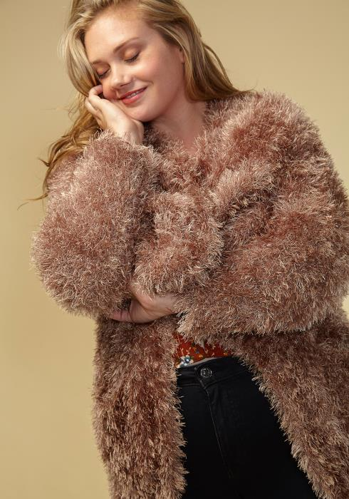 Asoph Shaggy Plus Size Women Clothing Long Sweater