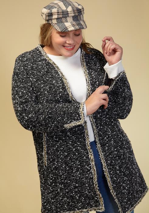 Asoph Plus Size Cozy Open Front Cardigan