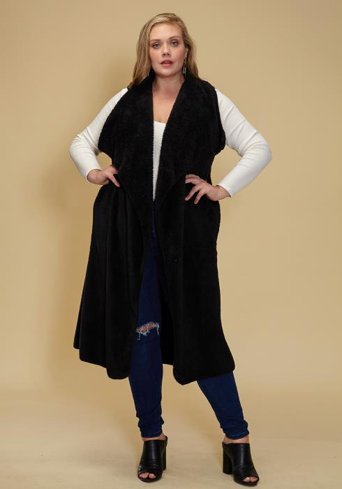 Asoph Plus Size Just Right Sleeveless Cardigan