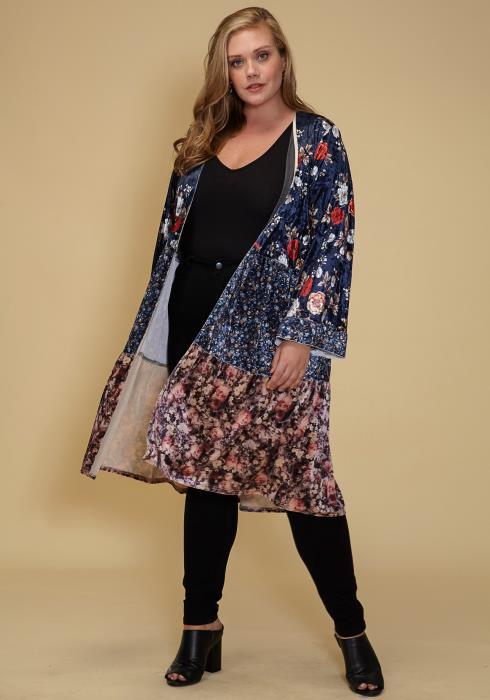 Asoph Plus Size Floral Comfy Cardigan Women Clothes