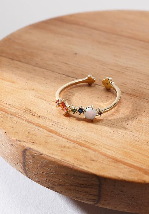 Multi-Color Stone Ring