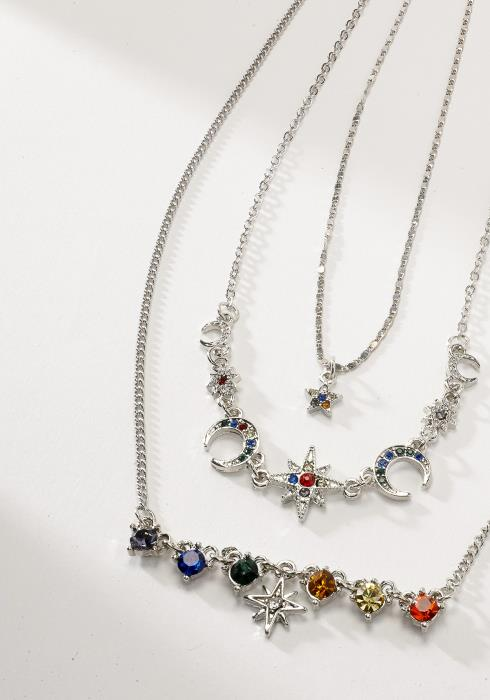Multi-color Layered Necklace Set