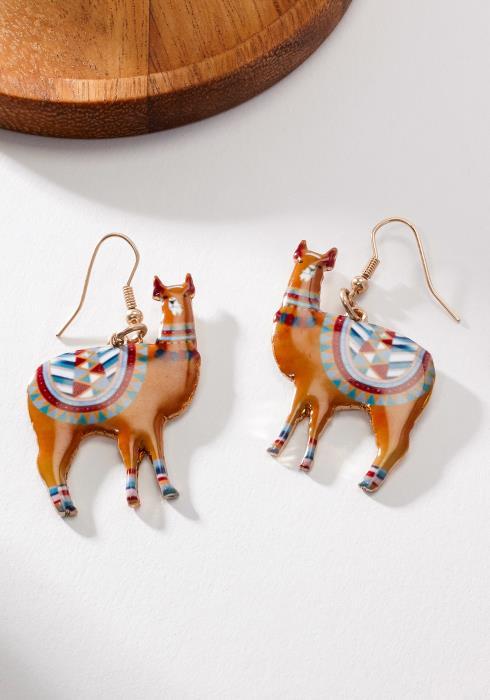 Cute Ethnic Llama Earring