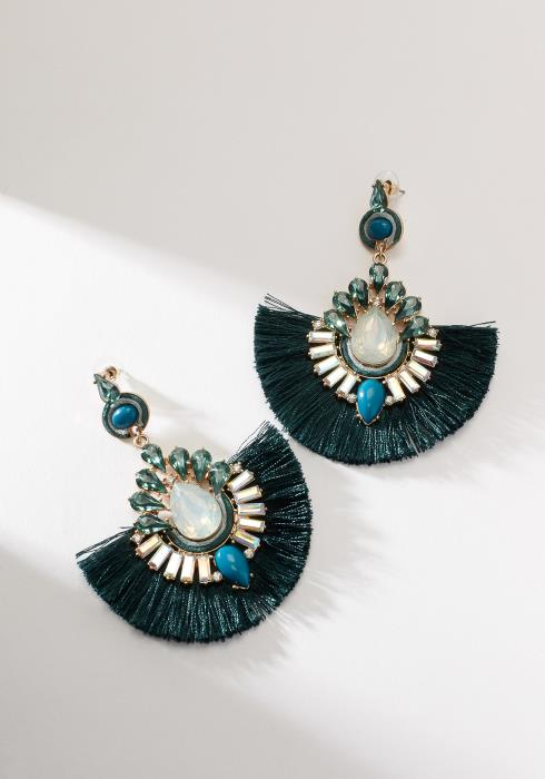 Antique Fan Shape Tassel Earring