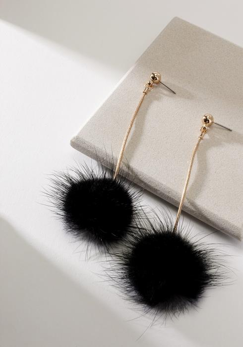 Fur Drop Earring