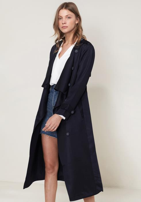 Ro&De Noir Drape Collar Trench