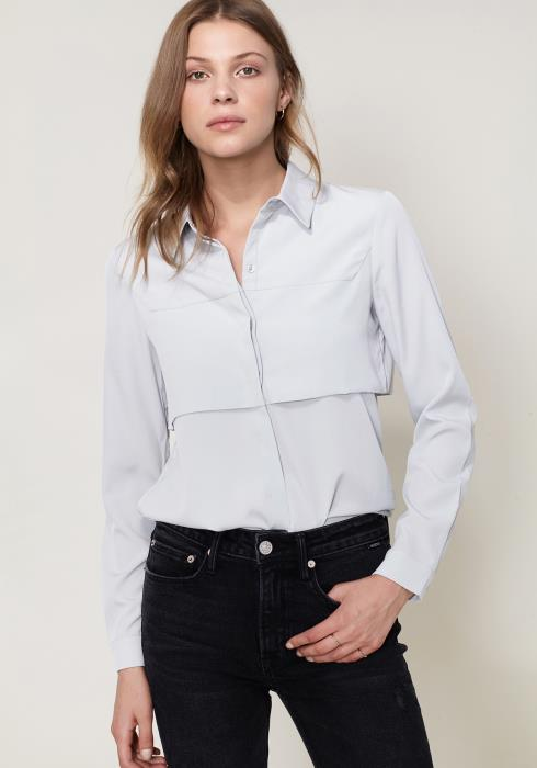 Ro&De Basic Button Down Blouse