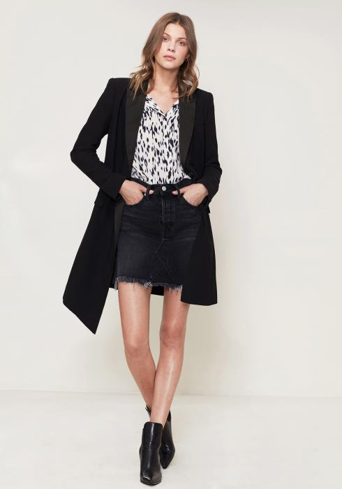 Ro&De Double Breasted Long Blazer