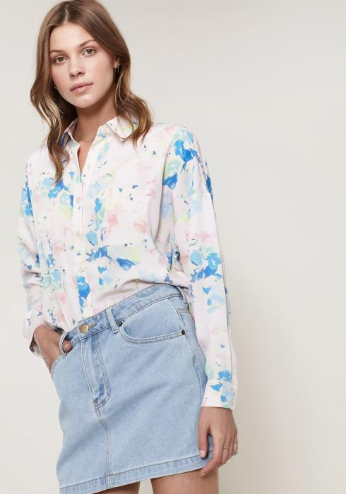 Ro&De Noir Printed Shirt Blouse