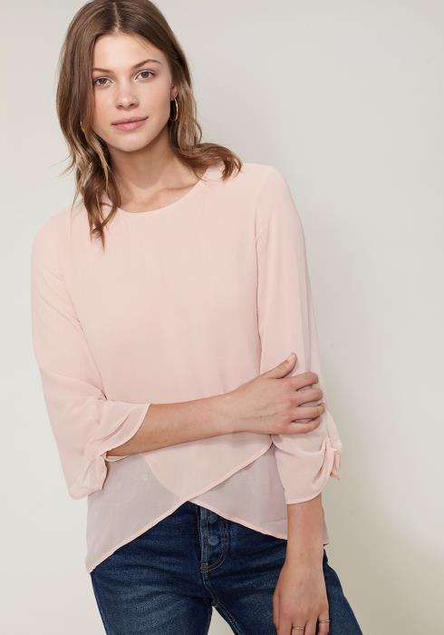 Ro&De Noir Cross Hem Blouse