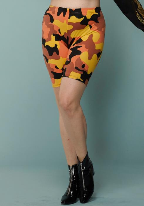 Asoph Plus Size Camo Print Leggings Shorts