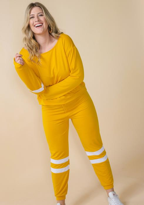 Asoph Plus Size Crewneck Sweatshirt & Jogger Pants Set