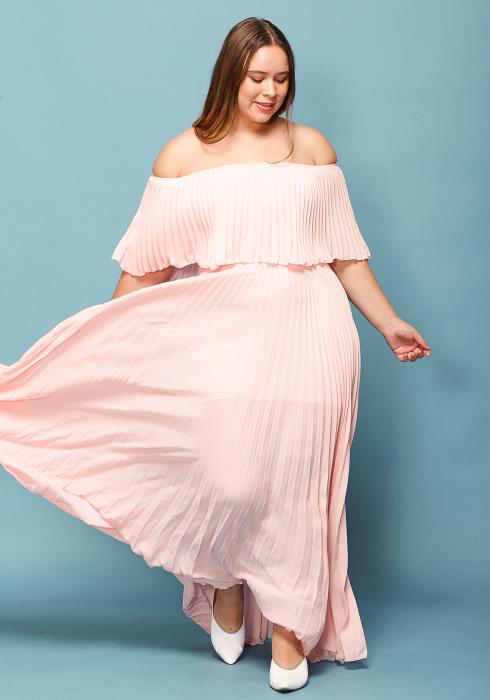 089c581aad1 Asoph Plus Size Chiffon Maxi Dress