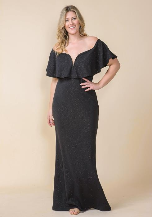 Asoph Plus Size Off Shoulder Luxury Mermaid Evening Gown